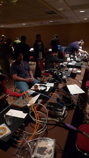 The LAX Hilton sold out half its conference rooms for the headphone mayhem.